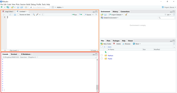 Write and execute your code in RStudio