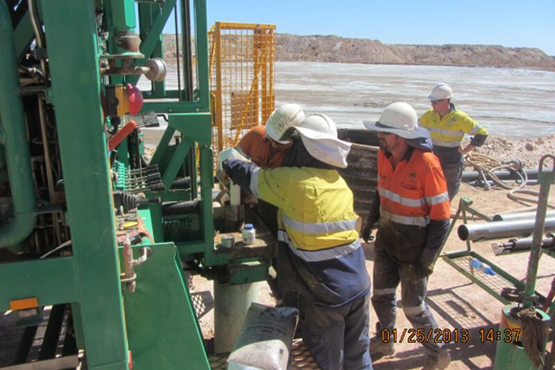 Instrumentation - Installation of inclinometer systems after borehole drilling program