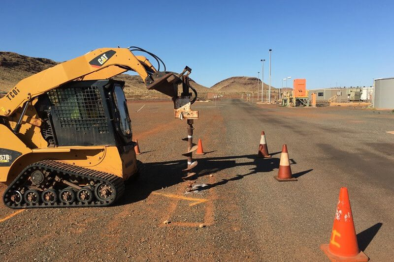 Site Investigation - Bobcat with Auger head