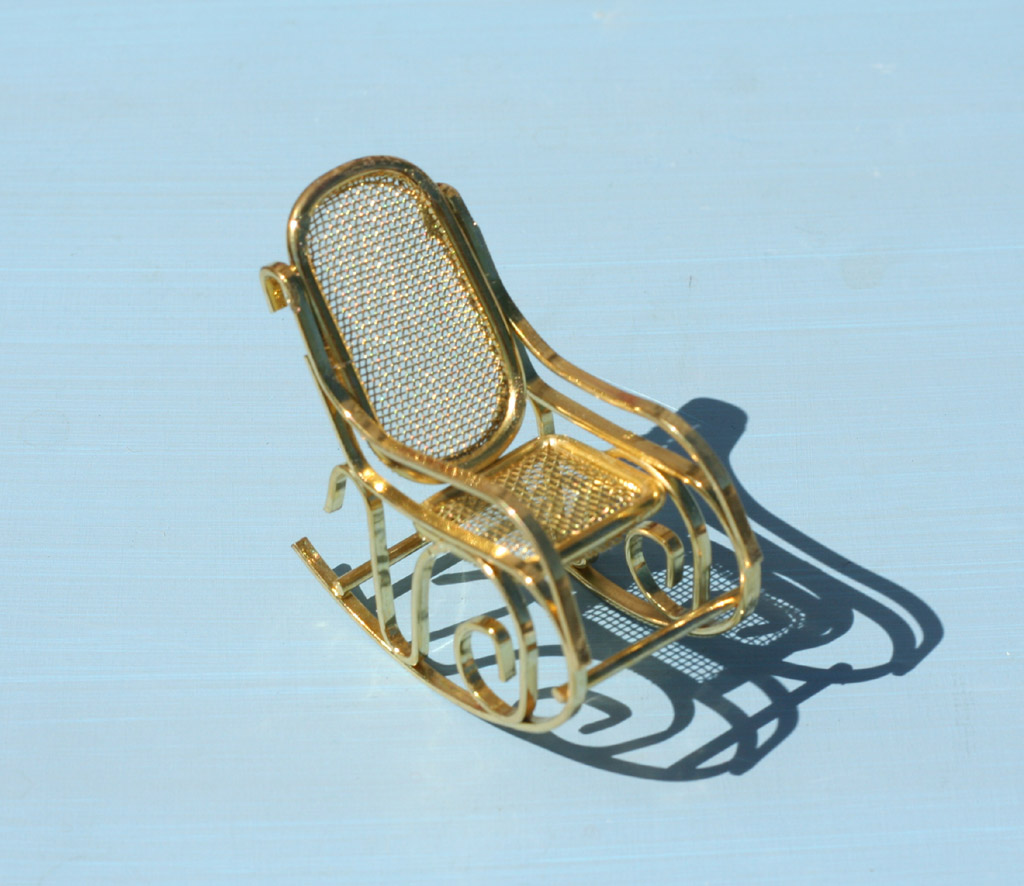 mini rocking chair unusual company chichester miniature metal 3 99 statuary place