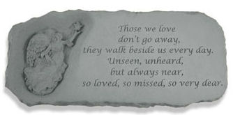 Guardian Angel Garden Memorial Bench With Verse