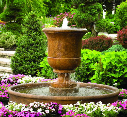 Cento Urn On 6' Pool Fountain
