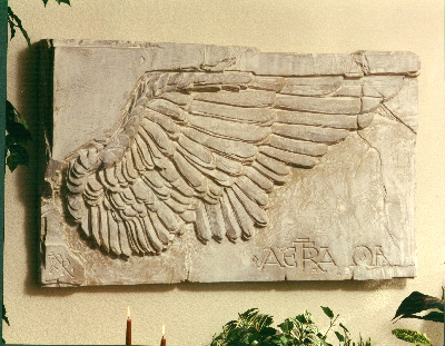 Athenian Wing Sculpted Wall Frieze