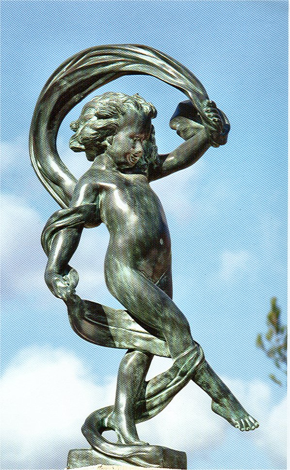 Dancing Girl of the Wind Bronze Garden Statue