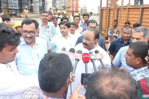 Home Minister at Statue Of Equality Project