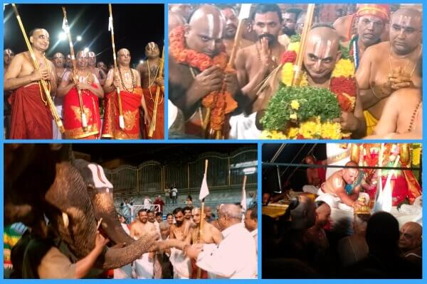 HH reaches Tirumala to convey 'Statue of Equality' updates and seeks blessings