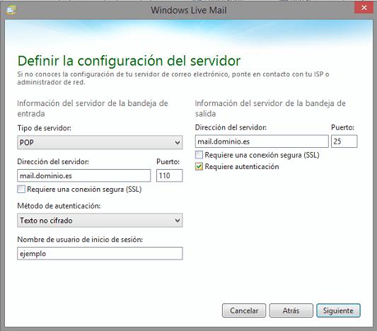 Configuración POP3 tu cuenta está configurada