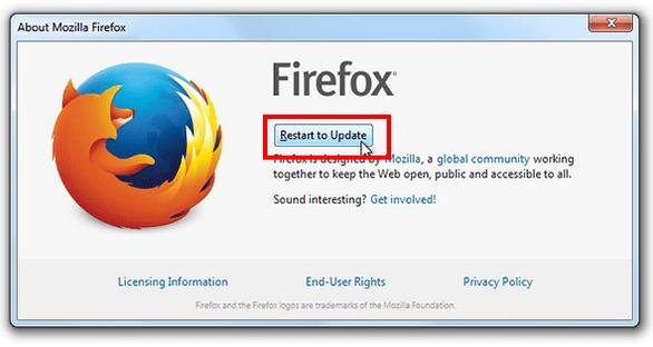Actualizar Mozilla Firefox paso 3