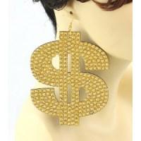 Dollar Sign Earrings - Status Runway