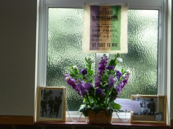 """Women's Suffrage - The Right to Vote"" = Our Mission Flower Festival"