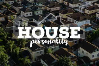 """Faded background with the text """"The House Personality Test"""""""