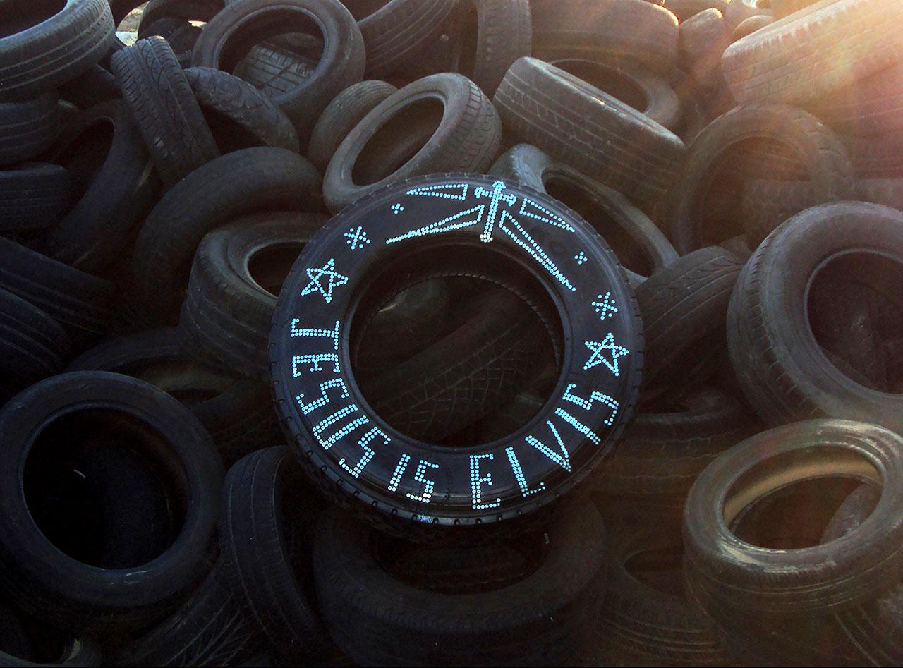 jesus-is-elvis,-screws-on-tire