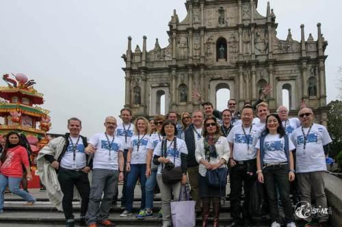 Gruppenfoto in Macau.