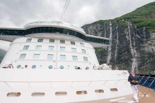 360° Grad Drehung im Fjord.