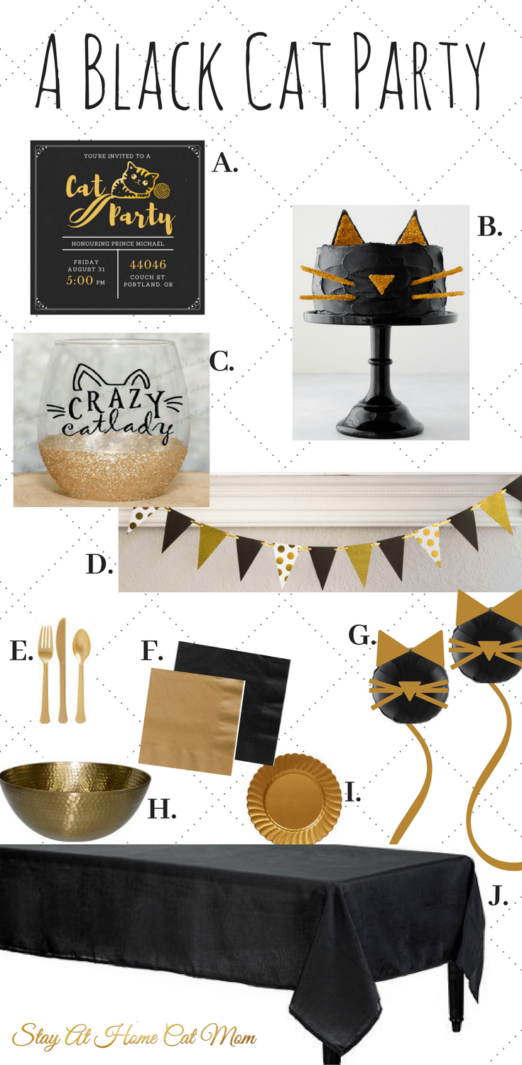 A black Cat Themed Party