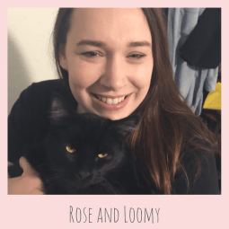 Rose from StayAtHomeCatMom.com with Loomy