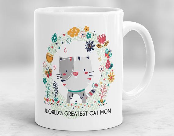 World's greatest cat mom mug