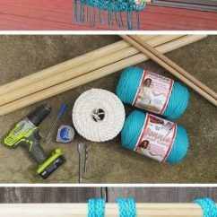 How To Make A Hanging Chair Stand Ikea Macrame At Home Crocheted Hammock Stay Mum