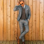 Chambray and Herringbone for a Wedding - Stay Classic