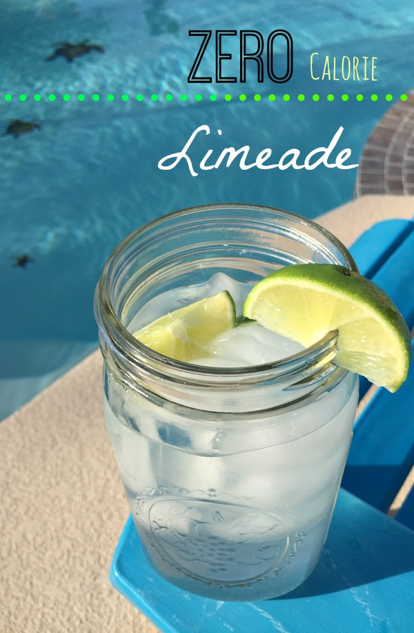 This zero calorie limeade is perfect to drink all summer long!