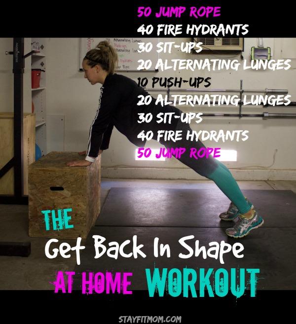 Best way to start getting back in shape
