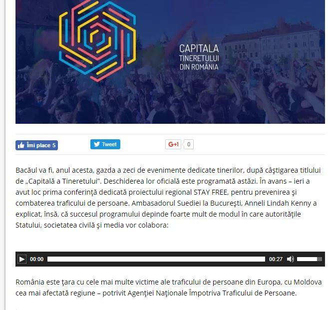 Conferinta StayFree Bacau Radio Craiova