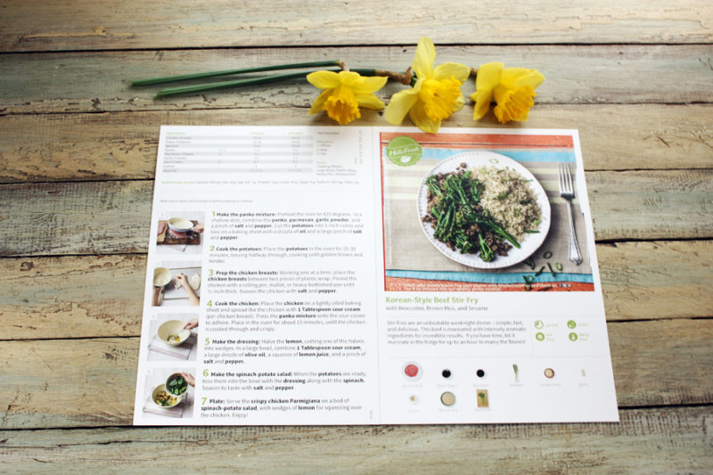 Hellofresh.com Recipe and Meal review: The recipe has step by step pictures and instructions. Everything is already pre-measured, but you can use the recipes again with your own ingredients! | Stay gold Autumn