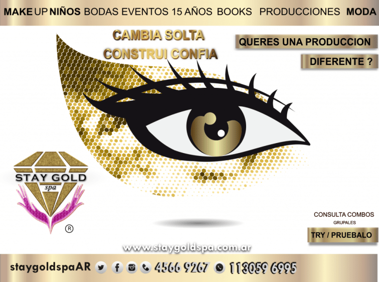 Maquillaje Stay Gold Spa AR