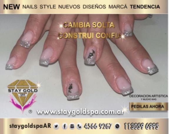 uñas acrilicas young silver 2