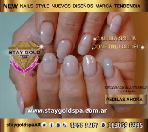 pink quartz nails uñas gelificadas rosa cuarzo