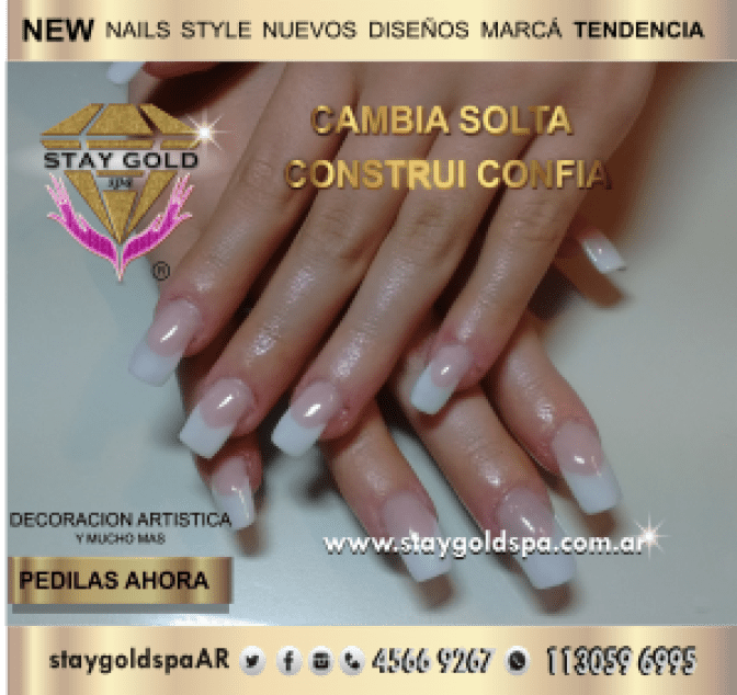 french teen nails after uñas esculpidas