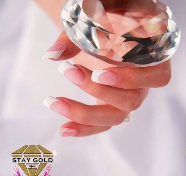 Diamond Frech Nails Uñas Esculpidas