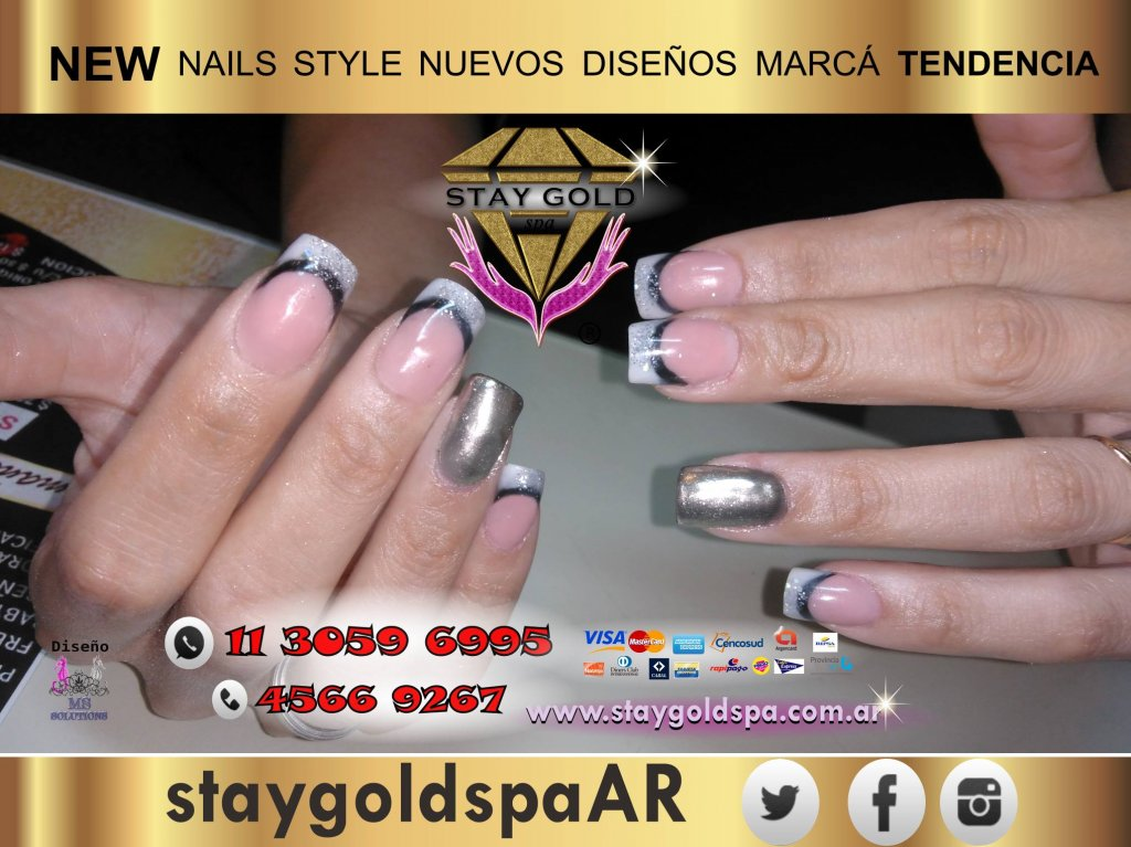 Metallic Mirror Nails Polvo