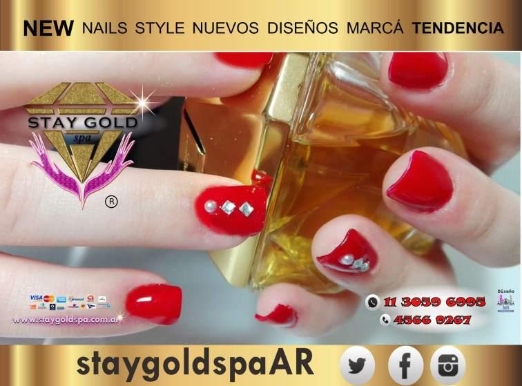 esmaltado rojo semipermanente uñas decoradas