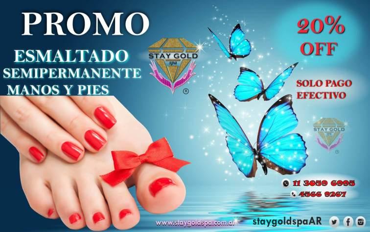 promo esmaltado semipermanente pies y manos