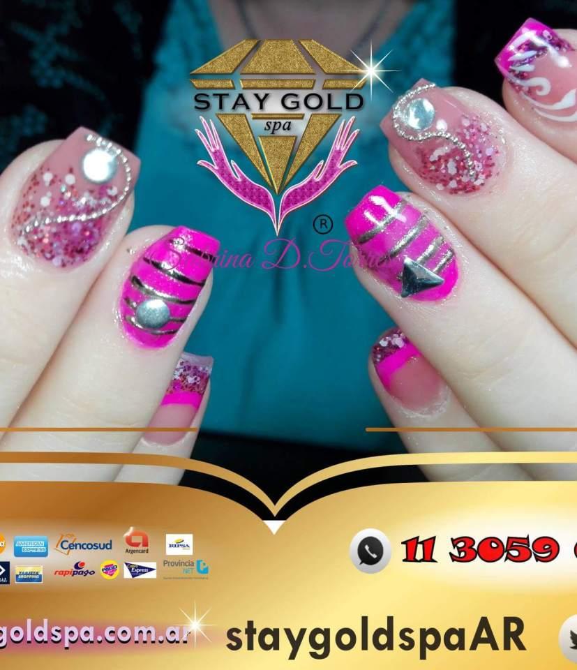 uñas decoradas rolling london nails