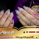 Uñas Esculpidas Diseñadas Stay Gold Spa