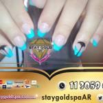 Dreaming Sapphires Nails | Uñas esculpidas green