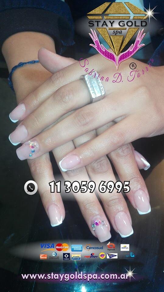 francesitas gelificadas nails con onda