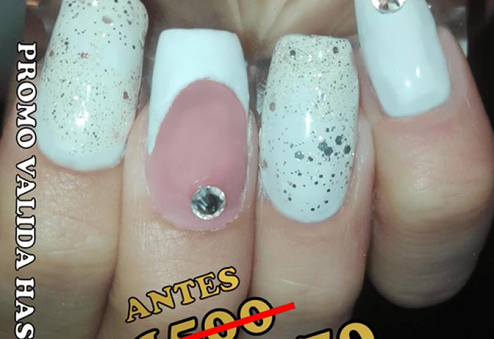 Chess French Nails Uñas Decoradas French Caballito