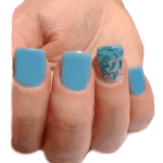 modelo de uñas blue mint nails