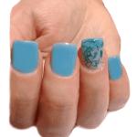 modelo de uñas blue mint nails