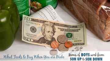 What Foods to Buy When You are Broke
