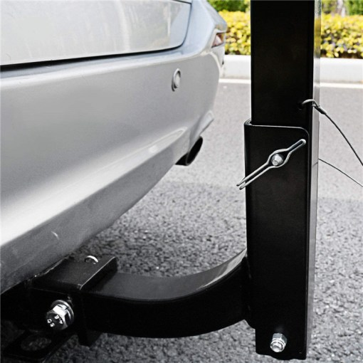 Bike Rack Carrier Attached To Car Hitch