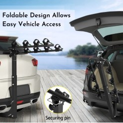 Tow Bar Bike Rack 4 Bicycle Carrier Mount Product Photo - Easy Rear Access
