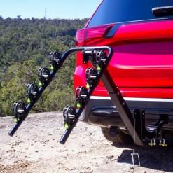 Tow Bar Bike Rack 4 Bicycle Carrier Mount Rack Tilted Back