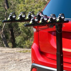 Tow Bar Bike Rack 4 Bicycle Carrier Mount Rack Zoomed In
