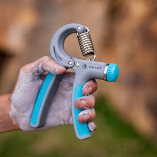 Blue Grip Strengthener Chalk Hand Stay Lost