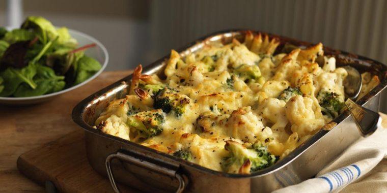 Keto Broccoli-Cauliflower Bake