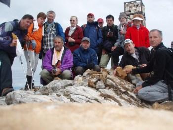 Planinari na vrhu Vihrena 2914 m